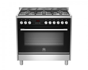 La Germania Cooker 6 Gas Burners 90X60 Stainless with Oven & Grill TUS96C81BX