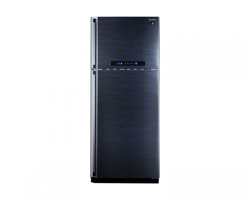 Sharp Refrigerator 384 Litre 2 Door Black Color Digital with Plasma Cluster SJ-PC48A(BK)