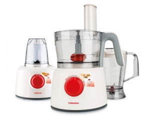 Tornado Food Processor 1000 Watt with 1.2 Liter Bowl & Blender TFP-1000CC
