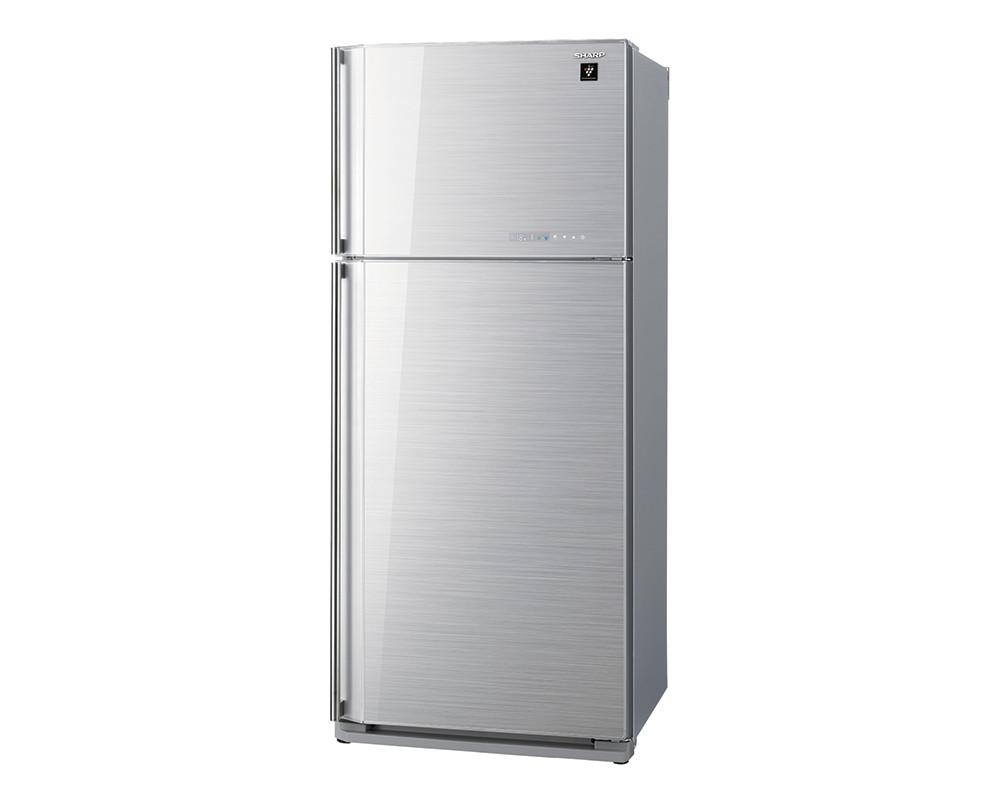 Sharp Refrigerator 2 Door 627L with Plasma cluster Glass Silver SJ-GC75V-SL