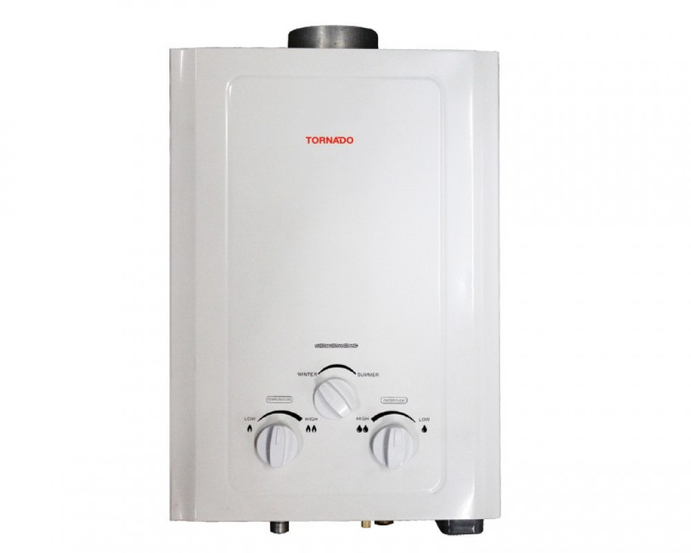 Tornado Gas Water Heater 6 Litre White Color GHM-6TN