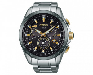SEIKO Men's Hand Watch Astron with titanium band & water resistant SSE073J1