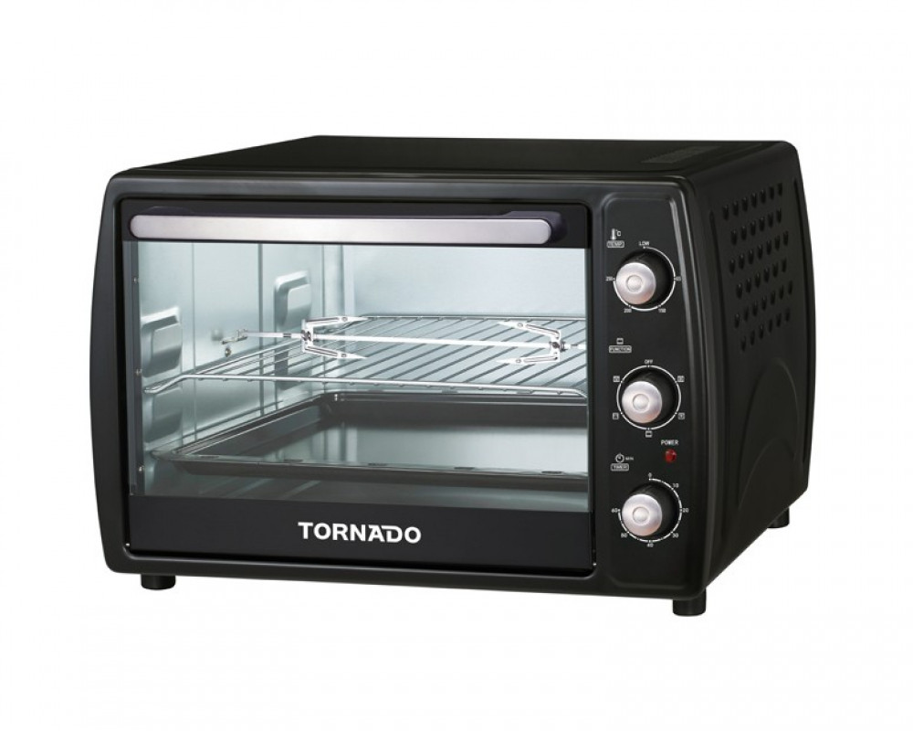 Tornado Electric Oven 1800 Watt 45 Litre with Lamp & Grill and Fan TEO-45RCL