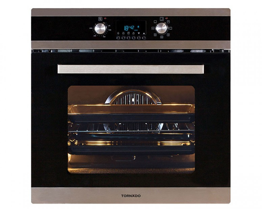 Tornado Electric Oven Stainless Steel With Convection Fan And Grill 64 Liters OV60EDFFS-2