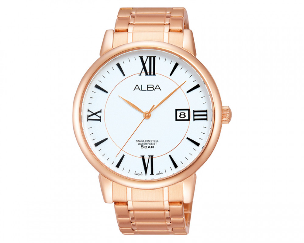 ALBA Men's hand watch Prestige Silver dial & Stainless Steel band AS9802X1