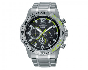 ALBA Men's hand watch Active Black patterned dial and water resistant AT3899X1