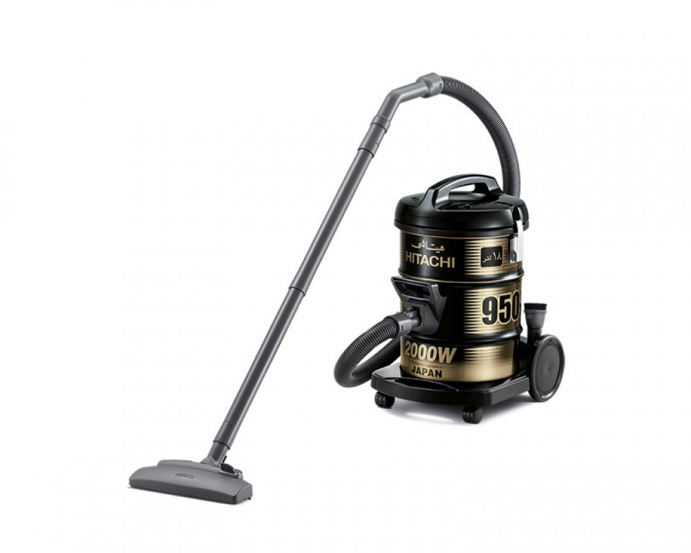 Hitachi Pail Can Vacuum Cleaner 2000 Watt with Blower Function & Dusting and Upholstery Brush CV-950Y