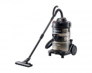 HITACHI Pail Can Vacuum Cleaner 2300 watt with 2 Filters in Black x Gold color CV-995DC