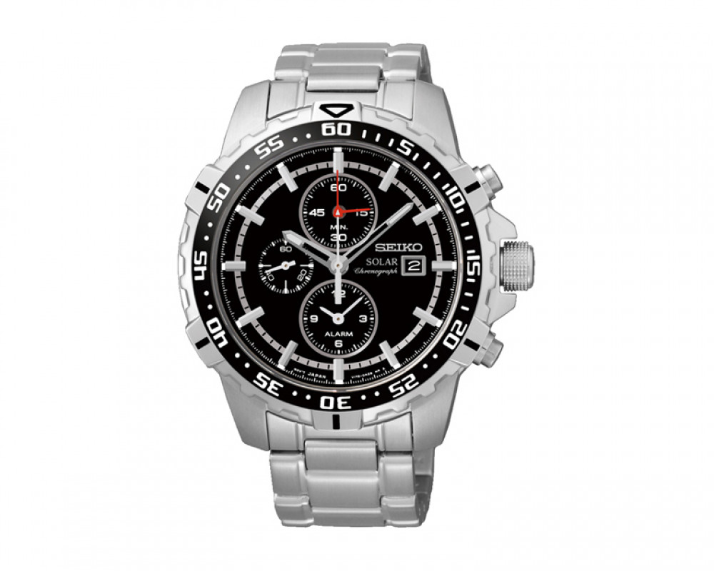 SEIKO Men's Chronograph Hand Watch Stainless Steel Band & 1Year Warranty SSC299P1
