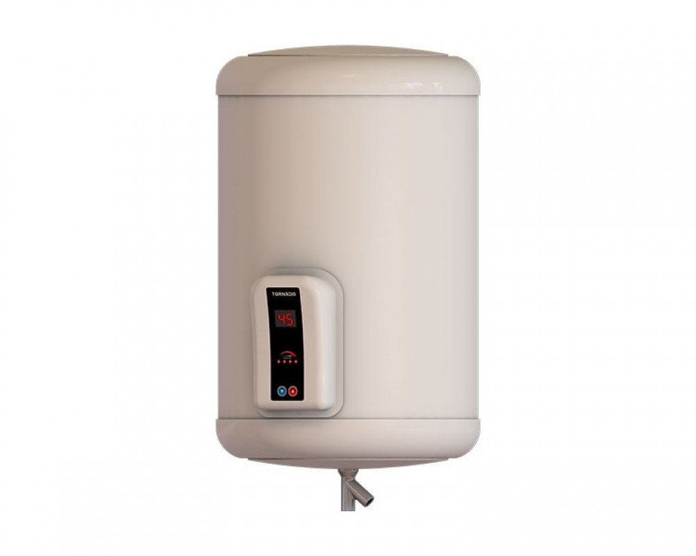 Tornado Electric Water Heater 55 Litre Digital Off White Color EHA-55TSD-F