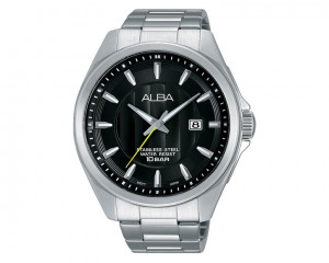 Alba Men's hand watch Active Black dial and Stainless steel bracelet AS9987X1