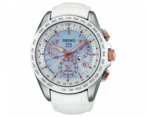 SEIKO Men's Hand Watch Astron with leather band & water resistant SSE063J1