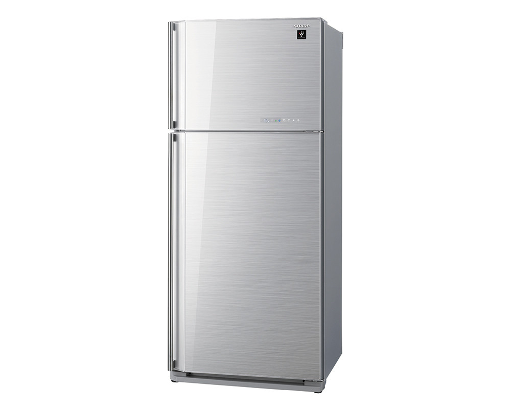 Sharp Refrigerator 2 Door 585L Digital with Plasma cluster Glass Silver color SJ-GC70V-SL