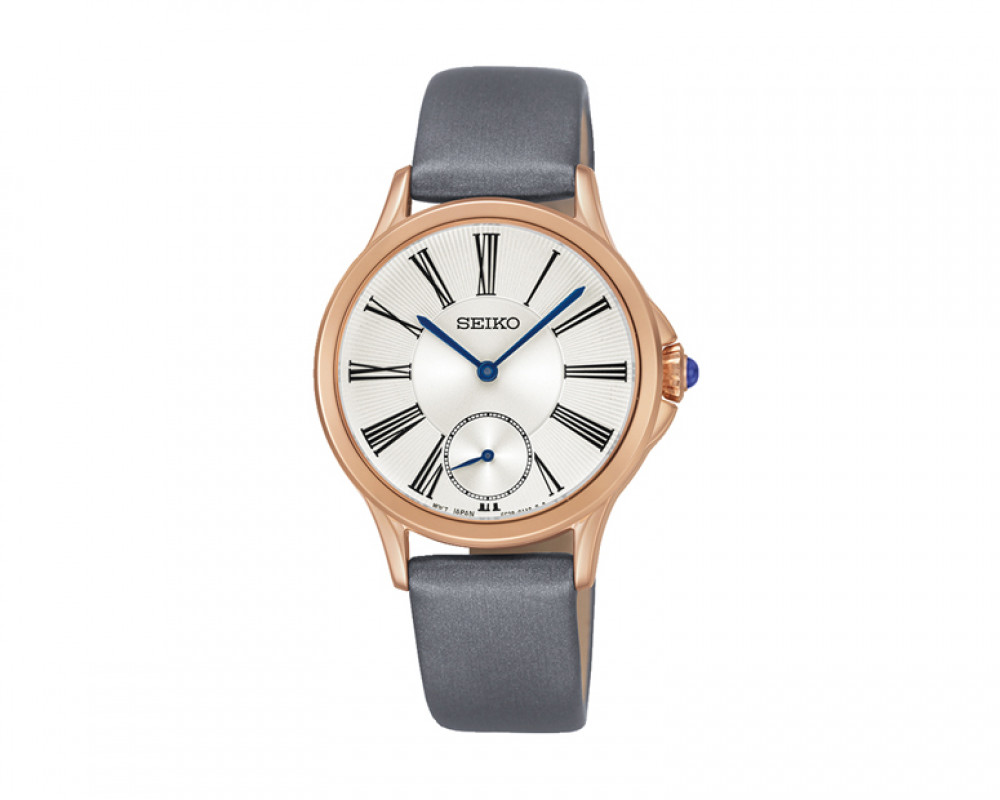 SEIKO Ladies' Hand Watch Quartz Grey Leather Band and 1Year Warranty SRKZ54P1