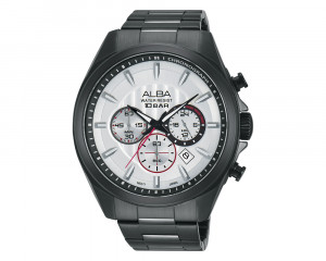 ALBA Men's Hand Watch ACTIVE Stainless Steel Bracelet & Silver Patterned Dial AT3763X1