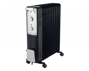 Tornado Oil Heater 11 Fins 2500 Watt With Turbo Fan 3 Heat Settings TOH-11F