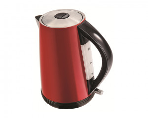 Tornado Stainless Steel Kettle 2200 Watt 1.7 Liter in Red Color TKS-2217R