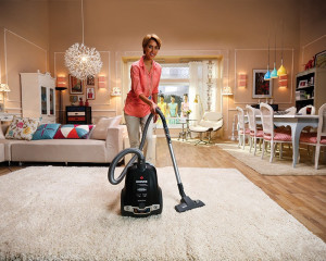 Hoover Vacuum Cleaner 2300 Watt Black Color with Carpet & Floor Nozzle and LCD Display TPP2340020