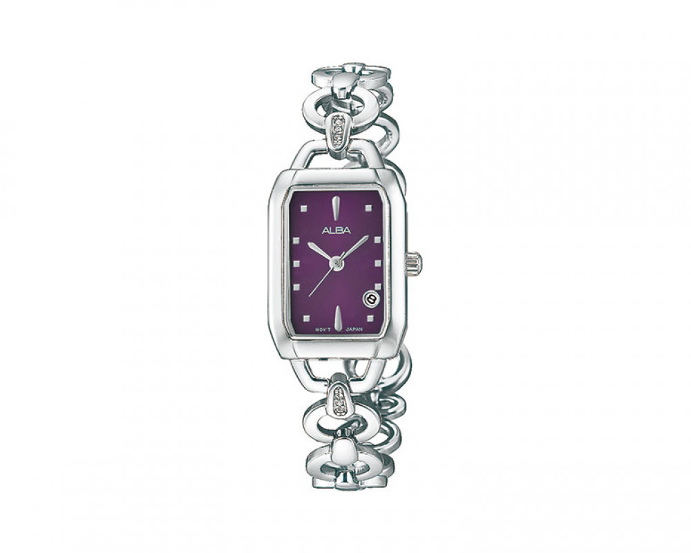 ALBA LADIES' hand watch Fashion Stainless steel & Dark Purple dial AH7777X
