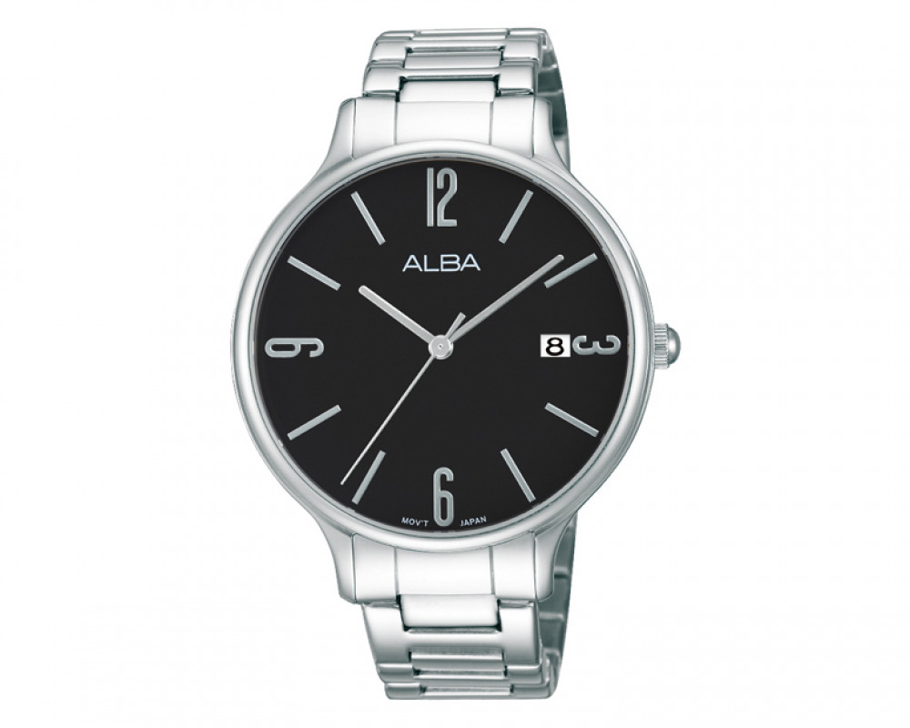 ALBA Ladies' hand watch Fashion  Black dial & Stainless Steel band AS9859X1