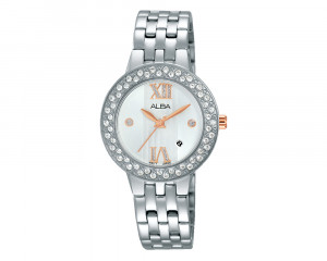 ALBA Ladies' Hand Watch Fashion Stainless Steel Band & Water Resistant AH7H39X1
