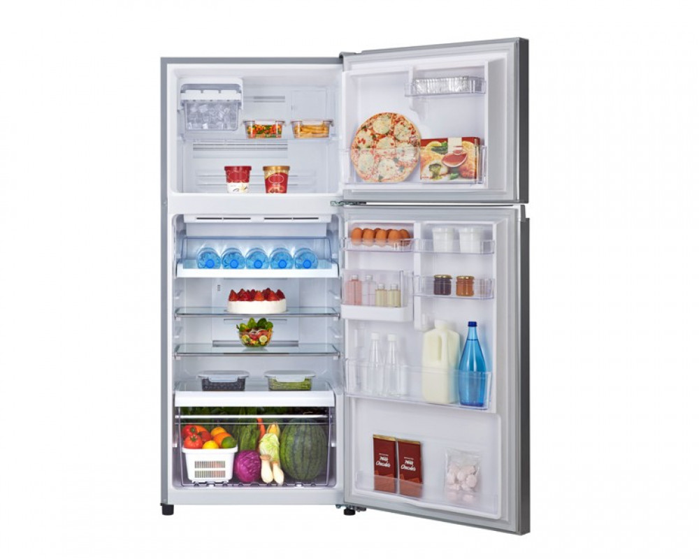 Toshiba Refrigerator Inverter 2 Door 409L Silver Color With Glass Shelves GR-T46UBZ-E(FS)