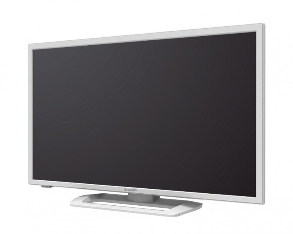 Sharp LED TV 32 Inch HD with 1 USB Movie & White Color LC-32LE265M-WH