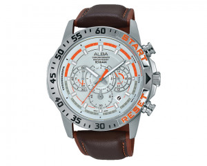 ALBA Men's hand watch Active Silver white dial and water resistant AT3901X1