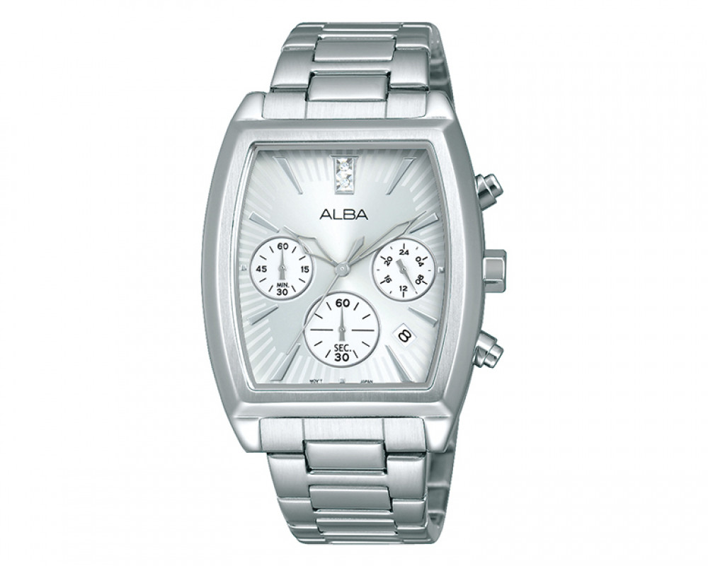 ALBA Ladies' hand watch Fashion Silver dial & Stainless Steel bracelet AT3697X1