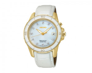 SEIKO Ladies' Hand Watch Sportura with leather band & water resistant SKA876J1