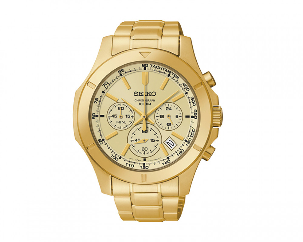 SEIKO Men's Chronograph Hand Watch Stainless Steel Band & 1Year Warranty SSB112P1