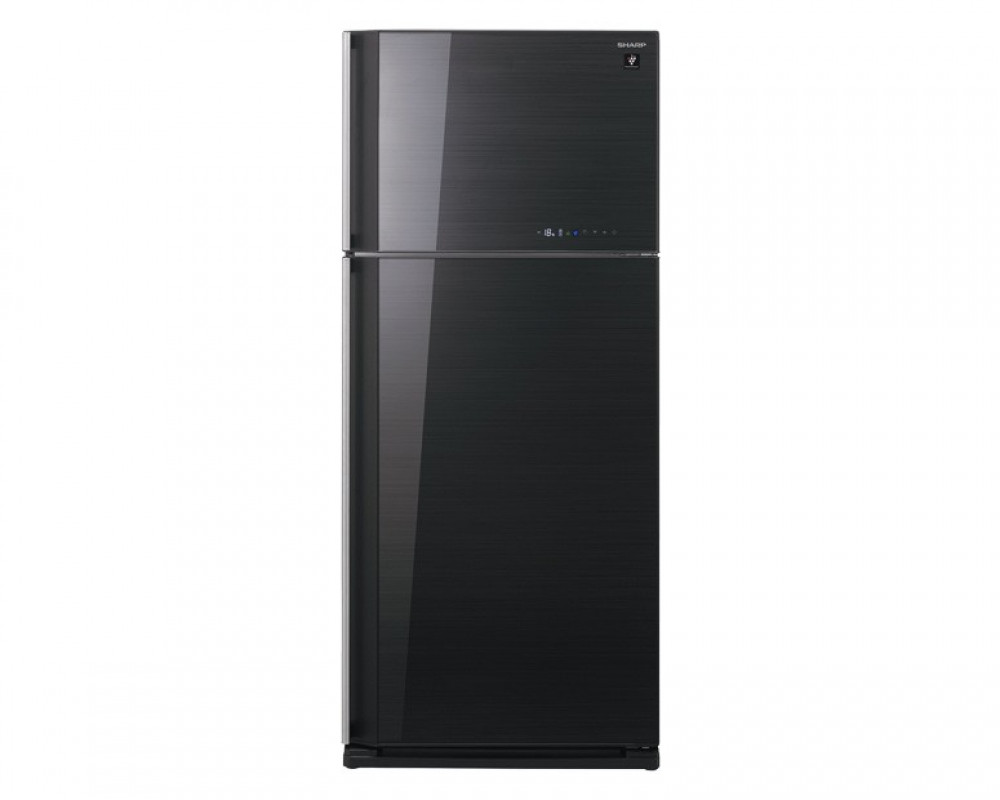 Sharp Refrigerator 2 Door 627L Black Glass SJ-GC75V-BK