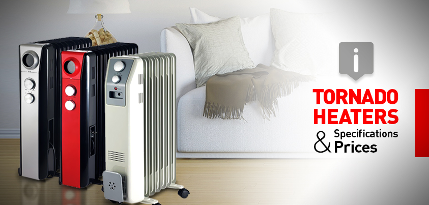Tornado Oil Heaters Specifications Prices
