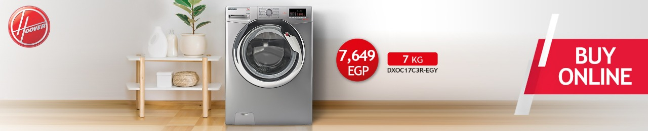HOOVER Washing Machine Fully Automatic 7 Kg In Silver Color DXOC17C3R-EGY